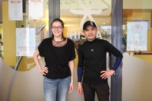 Après le cours, pause photo devant le restaurant avec Hisayuki Takeuchi