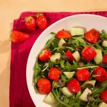 salade roquette-fraise